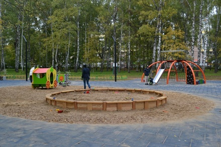 Детский городок и площадка для собак открылись в парке Пушкина