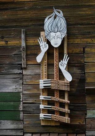 Нижегородская художница создала «Тишину» на стене заброшенного дома - фото 2