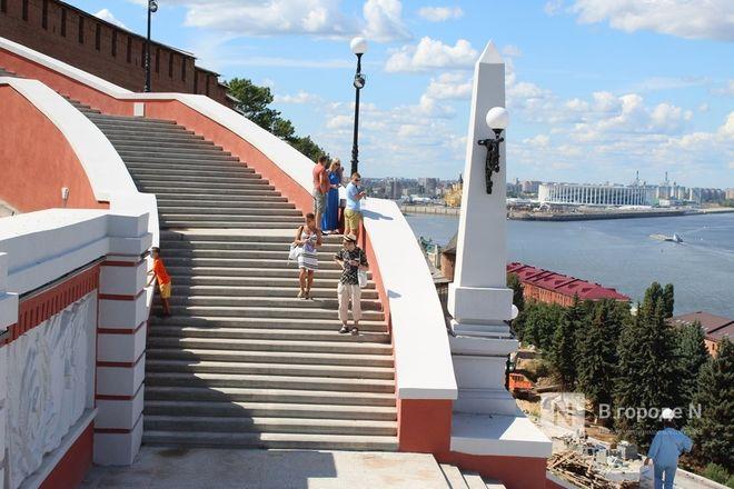 Чкаловскую лестницу открыли, несмотря на продолжающиеся ремонтные работы - фото 24
