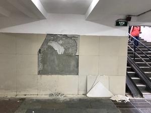 Тоннель на Московском вокзале придется ремонтировать заново (ФОТО)