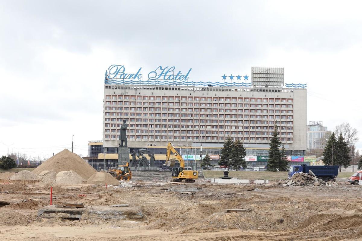 Выставочную площадь перед Нижегородской ярмаркой реконструируют к июлю - фото 1