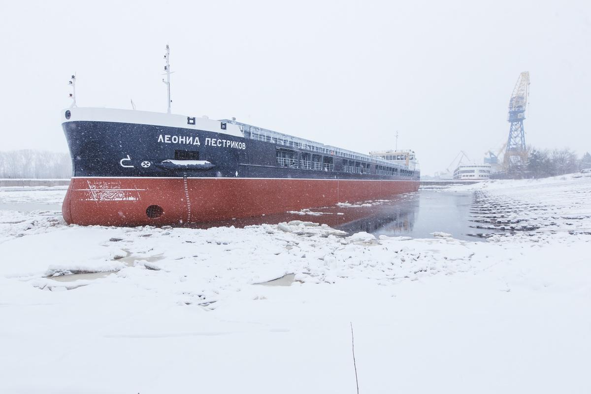 Сухогруз «Леонид Пестриков» спустили на воду на «Красном Сормове» - фото 1