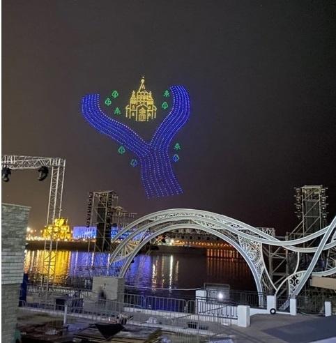 Репетиция шоу дронов прошла в Нижнем Новгороде - фото 1