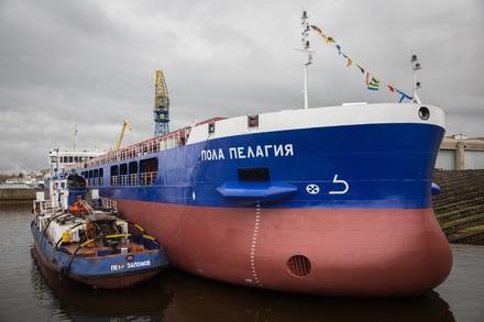 Сухогруз «Пола Пелагия» сошел на воду со стапелей «Красного Сормова»