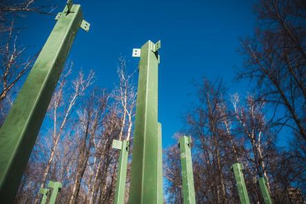 Павильон социального центра начали устанавливать в нижегородском парке «Швейцария»