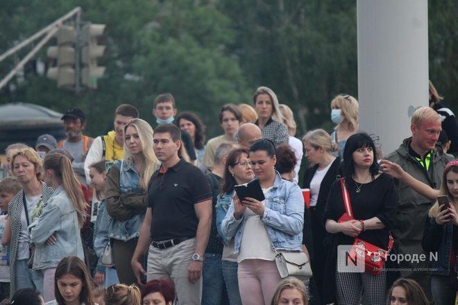 «Столица закатов» без солнца: как прошел первый день фестиваля музыки и фейерверков в Нижнем Новгороде - фото 40