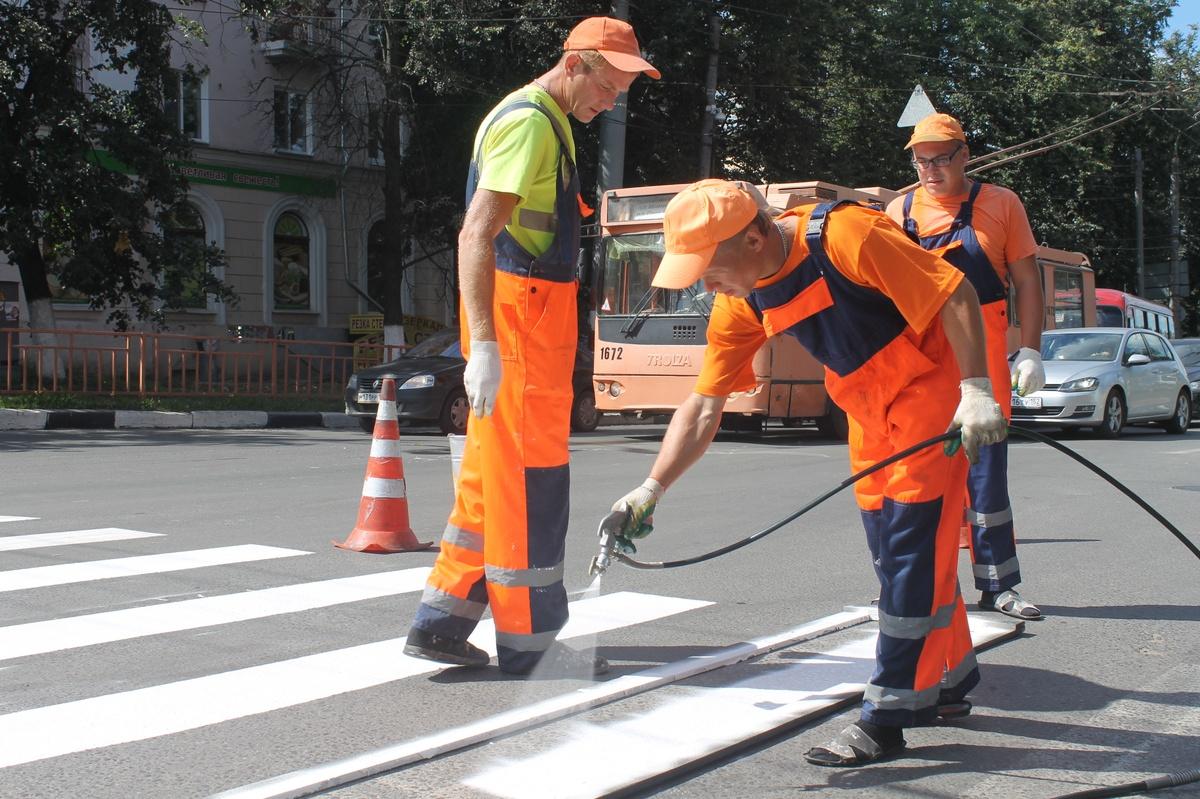 Почти 122 тысяч кв.м дорожной разметки нанесут Нижнем Новгороде