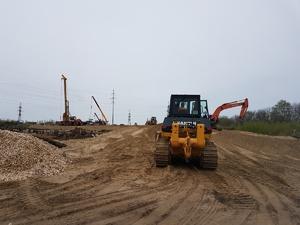 Двухуровневую развязку начали строить в районе деревни Ольгино