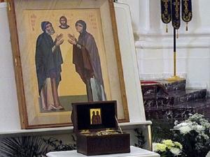 Ковчег с мощами святых Петра и Февронии привезли в Нижний Новгород