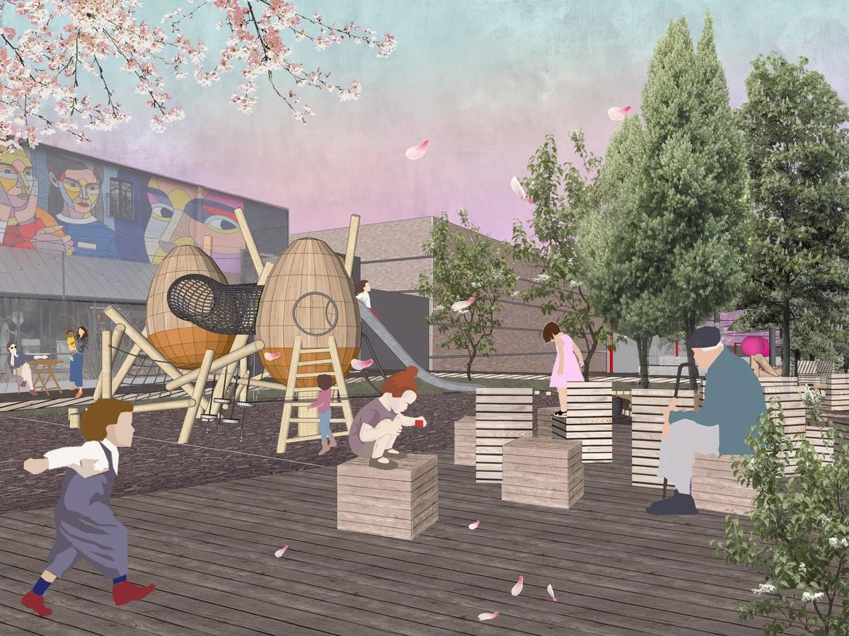 Амфитеатр под навесом и детская площадка появятся в сквере Свердлова - фото 3