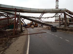 Поврежденную эстакаду в Дзержинске восстановили: движение открыто